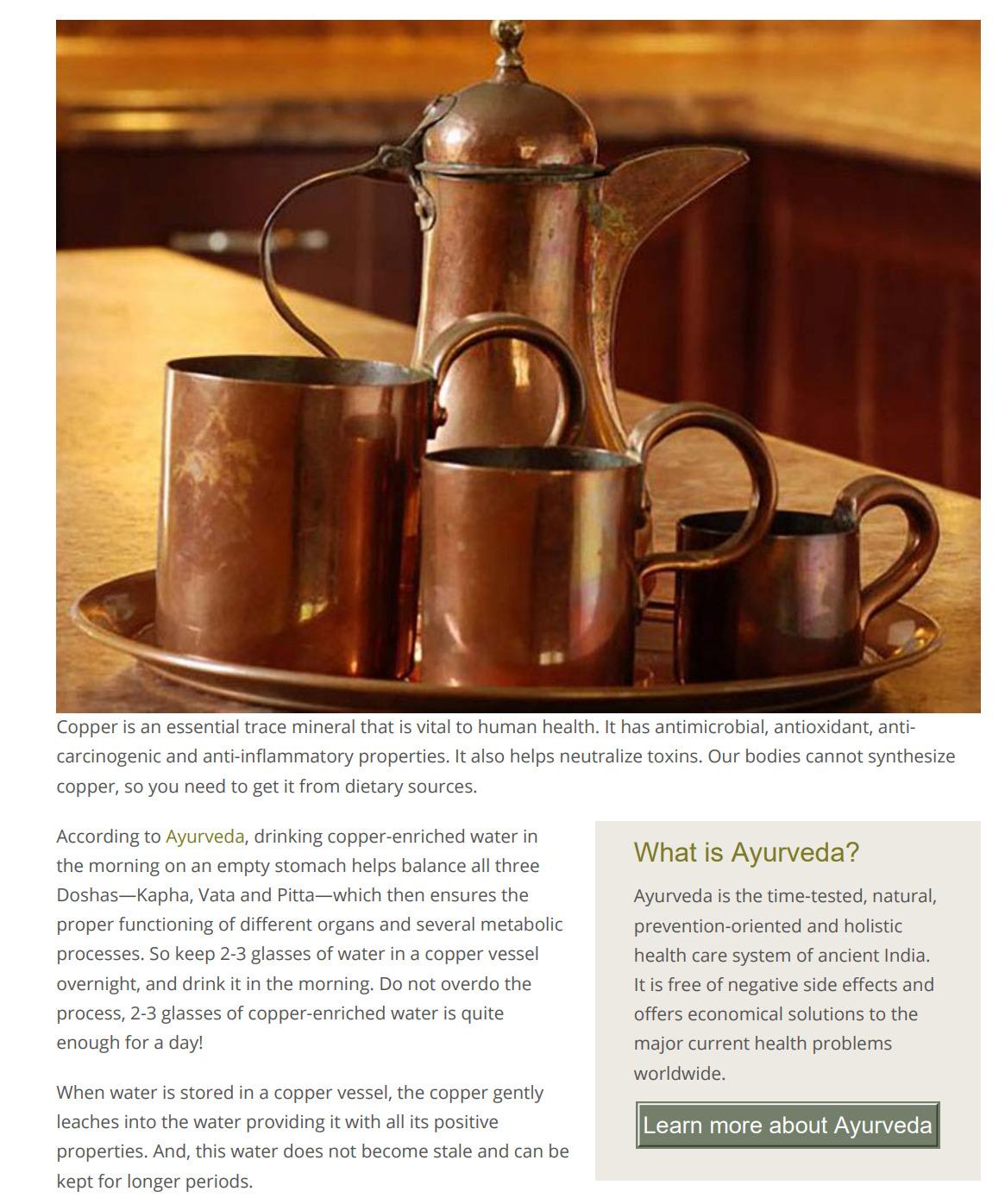 Health Benefits of Copper Water Bottles